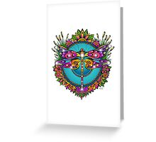 Gorgeous Dragonfly Mandala Greeting Card