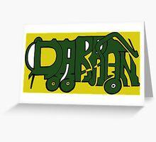 Darran - Garbage Truck Greeting Card
