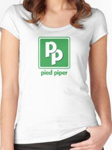 Pied Piper Middle-Out Compression  Women's Fitted Scoop T-Shirt
