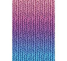 Chunky Knit Pattern in Pink, Blue & Purple Photographic Print