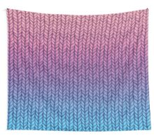Chunky Knit Pattern in Pink, Blue & Purple Wall Tapestry
