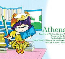 Chibi Athena - Greek Gods, Blue Series by Kita Parnell