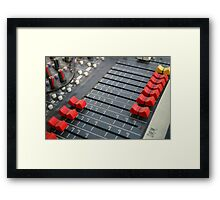 detail of sound mixer Framed Print