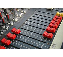 detail of sound mixer Photographic Print