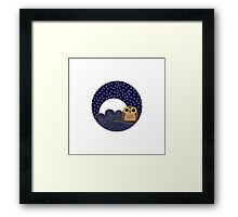 Night Owl - Circle Design Framed Print