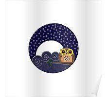 Night Owl - Circle Design Poster