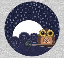 Night Owl - Circle Design Kids Tee