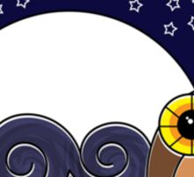 Night Owl - Circle Design Sticker