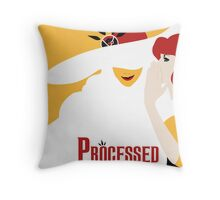 Processed - A Transistor & Wicked Mash Up Throw Pillow