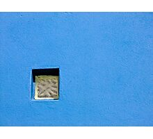 Blue with a Square Window Photographic Print