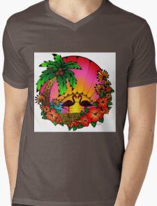 Flamingo Love  Mens V-Neck T-Shirt