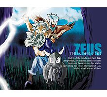 Chibi Zeus - Greek Gods, Blue Series Photographic Print
