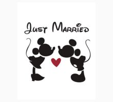 Just Married Disney Mickey & Minnie LOVE Kids Clothes