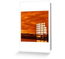 Surreal Sunset Reflections Greeting Card