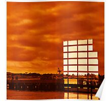 Surreal Sunset Reflections Poster