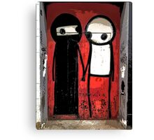 Street art by Stik in the Shoreditch area of London Canvas Print