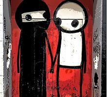 Street art by Stik in the Shoreditch area of London by TimConstable