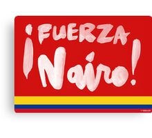 Fuerza Nairo Quintana : Colombian Flag Colors Canvas Print