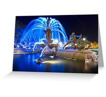 Archibald Fountain - Hyde Park Sydney Greeting Card