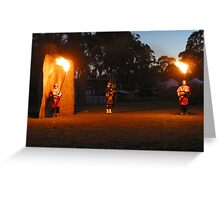 Piping in the Mist Dawn at Glen Innes Greeting Card