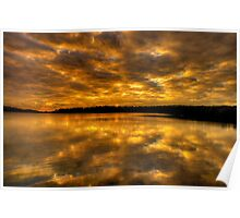 Golden Rhapsody - Narrabeen Lakes,Sydney - The HDR Experience Poster