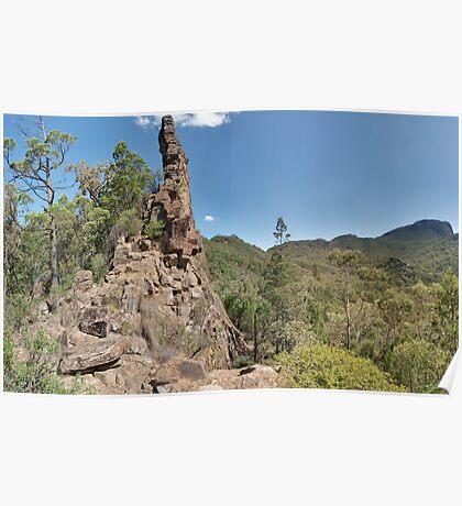 The Breadknife, Warrumbungle Mountains Poster