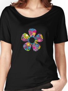 Funky Flower Women's Relaxed Fit T-Shirt