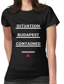 SAMARITAN of Interest BUDAPEST CONTAINED V2 Womens Fitted T-Shirt