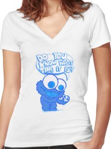 C is for cookie and cookie is for me! Women's Fitted V-Neck T-Shirt