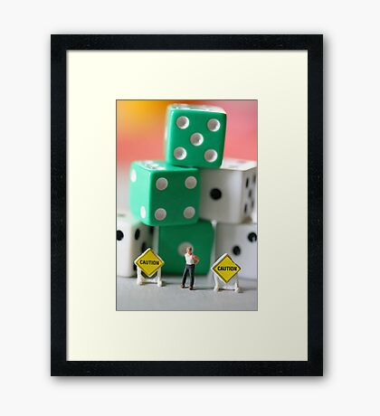 John was usually in control in any situation; however, this one seemed especially dicey! Framed Print