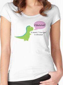 Dinosaur Love Women's Fitted Scoop T-Shirt
