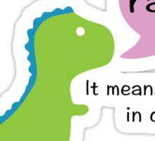 Dinosaur Love Sticker