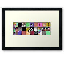 Pattern Squared Framed Print