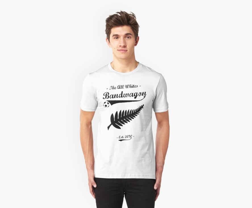 All Whites Bandwagon Tee by stillbeing