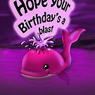 """""""Hope Your Birthday's a Blast!"""" Card (blank inside) by treasured-gift"""