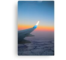 Aeroplane Wing Sunset Canvas Print