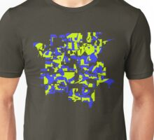 Yellow and blue explode! Unisex T-Shirt