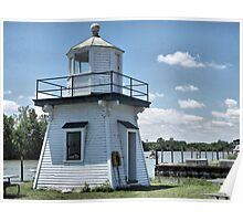 Old Port Clinton Pier Lighthouse Poster
