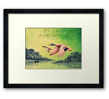 IT'S QUACK IN ANY LANGUAGE Framed Print