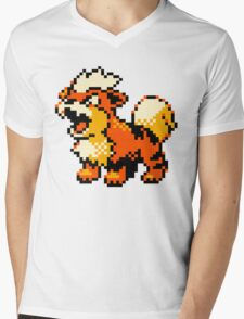Pokemon - Growlithe Mens V-Neck T-Shirt