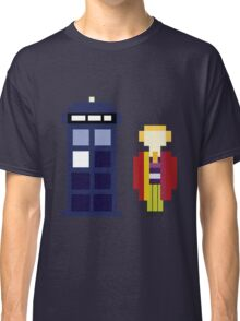 Pixel 6th Doctor and TARDIS Classic T-Shirt