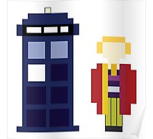 Pixel 6th Doctor and TARDIS Poster