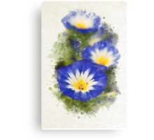 Morning Glory Watercolor Art Canvas Print