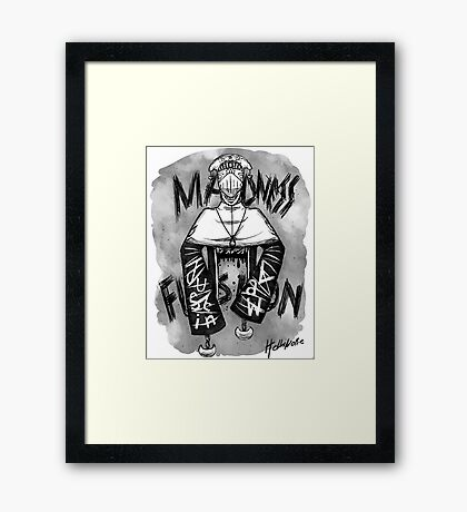Justin Law Madness Fusion Framed Print