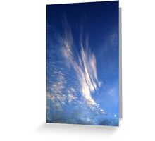 Sledding Down the Clouds Greeting Card