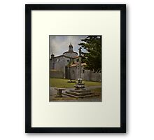 The pilgrim and the book Framed Print