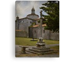 The pilgrim and the book Canvas Print
