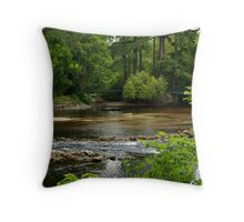 A View Of The River Ness In Scotland. Throw Pillow