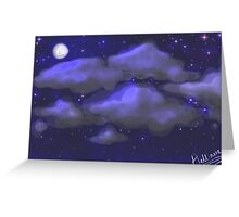 Moonlit Starry Sky Greeting Card