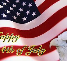 Happy 4th of July Greeting Card Number 2 by imagetj